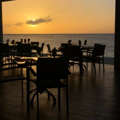 Anguilla Mead Bay Straw Hat Resturant Sunset 🍽