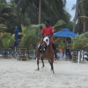 Ghana Accra Horseback Riding on Beach